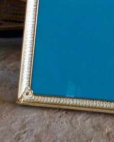 This is a beautiful gold metal 8 X 10 picture frame, with a whitewashed finish. Simple but ornate design with decorative corner details. Burgundy velvet back with easle & brass ring for hanging. In very good vintage condition with original glass. Great wedding, nursery, special occasion, bookshelf, & statement wall decor item! Larger ornate frame sold separately in shop!  Measures 8.5 X 10.5, fits a 8 X 10 picture. Thanks for shopping YellowHouseDecor!  Please visit my sisters shop for more…