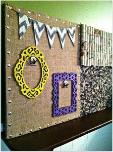 Shabby-Chic DIY Bulletin Board - Burlap and Bananas
