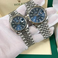 Side by side comparison of the #rolex #datejust 36mm vs 41mm #126234 #126334 • • • #wristwatches #rolexdatejust #watchmania #watchmaker #timepiece #watchart #watchlife #wristshot #wristporn #watchoftheday