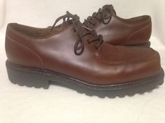 Men's Evergreen Brown Leather Dress Shoes Size 13 #Evergreen #Oxfords