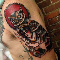 Owl #wisdom #traditional #tattoo #owl