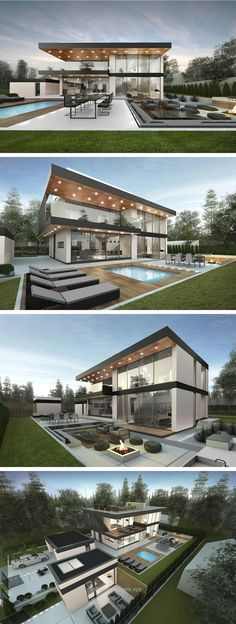 modern house in Stockholm by Ng architects www.lt: modern house in Stockholm by Ng architects www. Casas Containers, House Goals, Modern House Design, Modern House Exteriors, Luxury Modern House, Modern Glass House, Glass House Design, Modern House Plans, Modern Exterior