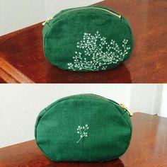 かすみ草をミシン刺繍して仕立てました #足踏みミシンで刺繍 #embroidery #刺繍 #ハンドメイド #handmade #かすみ草