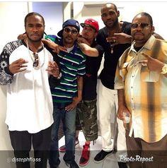 Bone Thugs-N-Harmony and LeBron James (Ohioan Natives) 90s Hip Hop, Hip Hop And R&b, Music Pics, Rap Music, Bizzy Bone, What's Trending Right Now, Hip Hop Classics, Hip Hop Fashion, King James