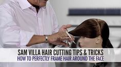 How To Perfectly Frame Hair Around The Face - Bob Villa uses the twist cut technique