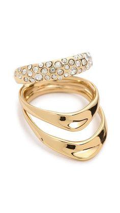 Alexis Bittar Crystal Encrusted Draping Ring.   $47