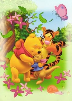 Pooh and friends Piglet Winnie The Pooh, Tigger Disney, Winnie The Pooh Pictures, Winnie The Pooh Friends, Mickey Mouse And Friends, Pooh Bear, Disney Winnie The Pooh, Eeyore, Walt Disney Princesses