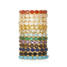 Charm & Chain | Precious Stone Thin Cuffs - Bounkit - A-Z Designers - Designers