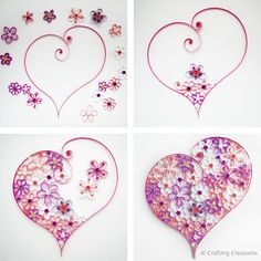 Paper Quilling Patterns Designs | My previous PDF pattern included 5 card designs to be used as ...