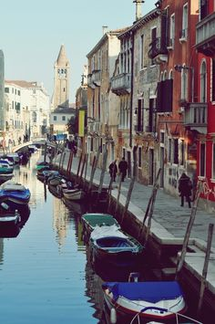 Walking along the canals, Venice, Italy