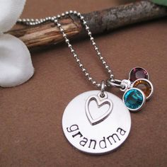 Mothers - Grandmothers Necklace With Optional Birthstone Charms {Jane Deals}
