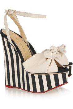 Love these Charlotte Olympia wedges!