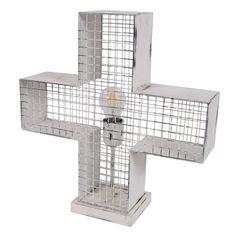 Stapelgoed Tafellamp Kruis - Wit - afbeelding 1