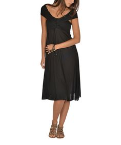 Loving this Black Six-in-One Convertible Dress on #zulily! #zulilyfinds