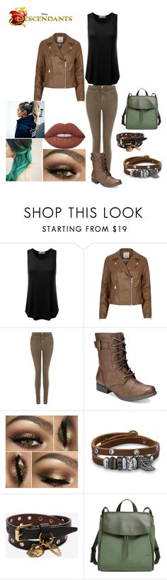 """Caden Pan"" by mrsmendes2 ❤ liked on Polyvore featuring River Island, J Brand, American Rag Cie, BillyTheTree, Alexander McQueen, Skagen, Lime Crime and Disney"