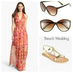 Beach Wedding {Nordstrom} | STYLE'N Cute dress, but I can't Remember if Danielle likes or dislikes halters.