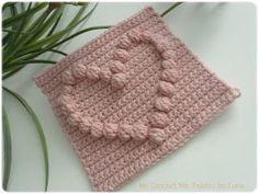 My Crochet , Mis Tejidos: Granny with a Puff Stitch Heart-Tutorial # 2/Tutorial # 2 del Granny con el orazon