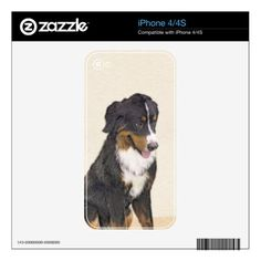Bernese Mountain Dog Skins For iPhone 4 - drawing sketch design graphic draw personalize