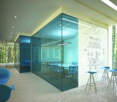 Gallery - Glass Whiteboards and Glass Dry Erase Boards by Clarus - Option 1 for freestanding interior office walls like in image one but in a light blue color scheme like logo Office Space Design, Office Interior Design, Pub Interior, Nordic Interior, Office Designs, Classic Interior, Apartment Interior, Interior Walls, Interior Lighting