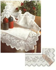 Puntilla a punto de red Filet crochet
