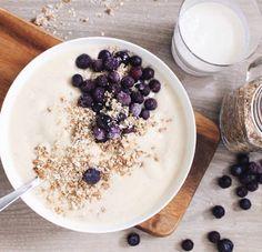 Banana and organic coconut milk smoothie