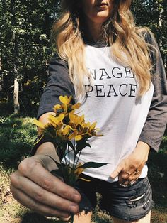 Womens, Unisex Wage Peace 3/4 Sleeve Raglan Tshirt. Our most popular design is now on a 3/4 sleeve shirt!! SHIRT SPECIFICS: This long sleeve shirt is made from 100% cotton so its soft and lightweight, great for warm or cool days. It has a slightly looser fit, perfect for lounging in.  FEEL: We think the way a shirt feels is super important, and softness is a huge factor in the pieces we choose for our shop. This shirt is no exception.  COLOR: Colors may vary slightly from your scree...