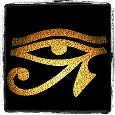 The Eye of Horus is an ancient Egyptian symbol of protection, royal power and good health. Egyptian Mythology, Egyptian Goddess, Egyptian Symbols, Ancient Symbols, Egyptian Art, Ancient Aliens, Ancient Egypt, Ancient History, Egyptian Hieroglyphs