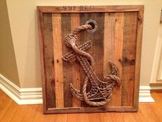 Unique anchor string art on old pallet wood by HJMcreations, $125.00