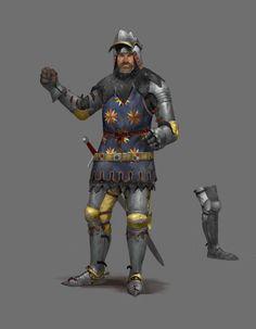 ArtStation - Kingdom Come Deliverance paintings, Tomas Duchek Medieval World, Medieval Knight, Medieval Armor, Medieval Fantasy, Fantasy Concept Art, Fantasy Armor, Dark Fantasy, Fantasy Inspiration, Character Inspiration