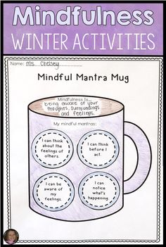 These winter themed mindfulness activities for kids will help your students learn mindfulness techniques such as guided Coping Skills List, Coping Skills Activities, Counseling Activities, Therapy Activities, Health Activities, Calming Activities, Mindfulness For Kids, Mindfulness Activities, Teaching Mindfulness