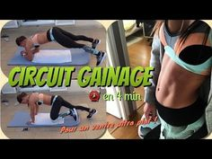 GAINAGE maison en 4 min - Un ventre ULTRA PLAT avec Fit by Clem - YouTube