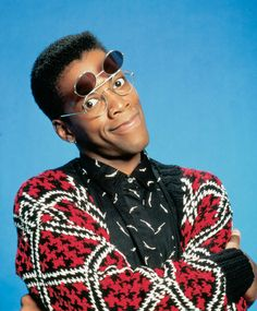 """""""A Different World"""" - I loved the opening sequence walking through the school! Dwaynes and Whitley! Those glasses! AH!"""