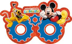 Playful Mickey Mouse Paper Masks, Packs of 6
