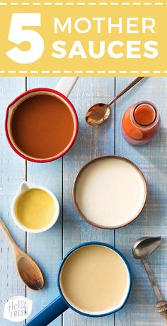 Mother Sauces To Elevate Your Cooking Game 5 mother sauces that will turn you into a kitchen wizard New Cooking, Cooking Tips, Cooking Recipes, Cooking Game, Cooking Icon, Basic Cooking, Cooking School, Cooking Light, Healthy Cooking