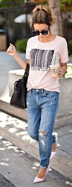Target Blue Distressed Denim Slim Boyfriend Jeans | Perfecting Your Distressed Denim | Hello Fashion