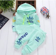 0-2Y cotton newborn baby boy clothes baby girl clothing set suit toddler bodysuits products for children sport 2015 spring Free(China (Mainland))