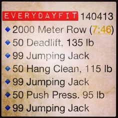 #EveryDayFit 140413 #wod #workout #crossfit