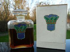 Flacon Ancien et Rare - FOUGERE DE LA COURONNE de GUELDY - Parfum 1910 - Coffret