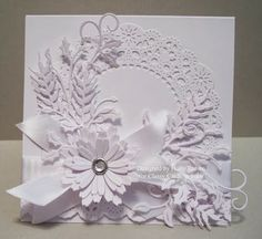 Holly's beautiful Winter Whites card is perfect for so many occasions!   Details are here:  http://classycardsnsuch.blogspot.com/2014/01/winter-whites.html