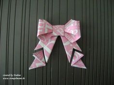Anleitung Tutorial Origami Schleife, Stampin Up 035