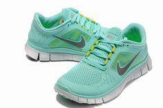 Licht Blauw Groen Vrouwen Nike Free Run 3 Schoenen