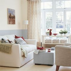Like the two tone wall - Living room furniture | Decorating ideas | Image | Housetohome