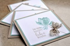 Stamped with Stampin Up's Lotus Bloom stamp set - Bettina and Mary: Getting ready ...