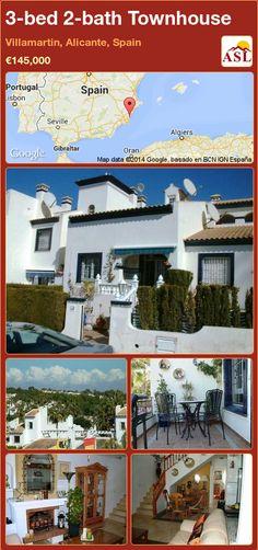3-bed 2-bath Townhouse in Villamartin, Alicante, Spain ►€145,000 #PropertyForSaleInSpain