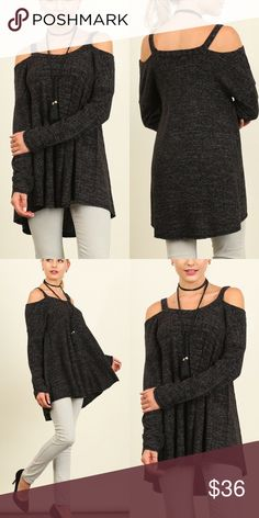 Boho cold shoulder tops Cold shoulder uber soft long sleeve tunic. Top has an A-line fit to it. Price is firm. Tops Tunics