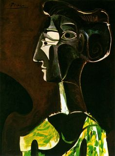 1963 Grand Profil by Picasso (1100×1488) More Pins Like This At FOSTERGINGER @ Pinterest