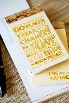 Live while you live. Anywhere Notebook. $2.95