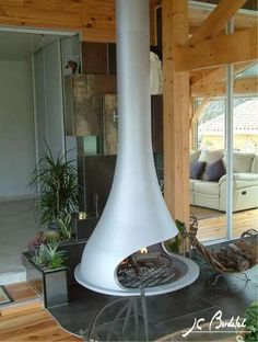 BathyscaFocus Freestanding fireplace Hanging fireplace and Stove