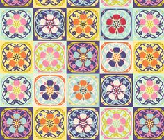 Flower Quilt 2 fabric by vinpauld on Spoonflower - custom fabric