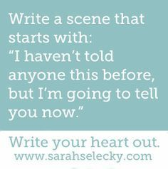 writing prompts for teen novel - Google Search